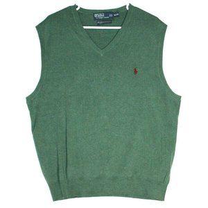 Polo Ralph Lauren Mens Green Sweater Vest Size XL